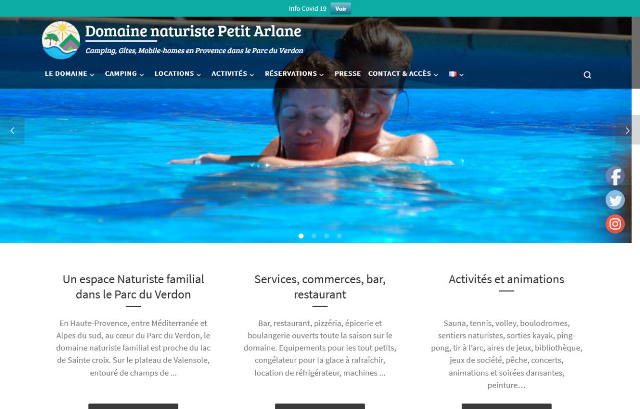 Camping, Gîtes, Mobile-homes - domainepetitarlane.fr