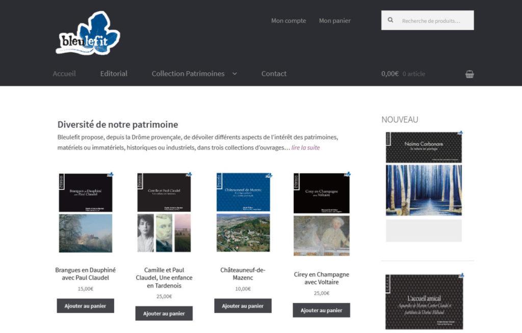 Editions Bleulefit, Collection Patrimoines - bleulefit.com