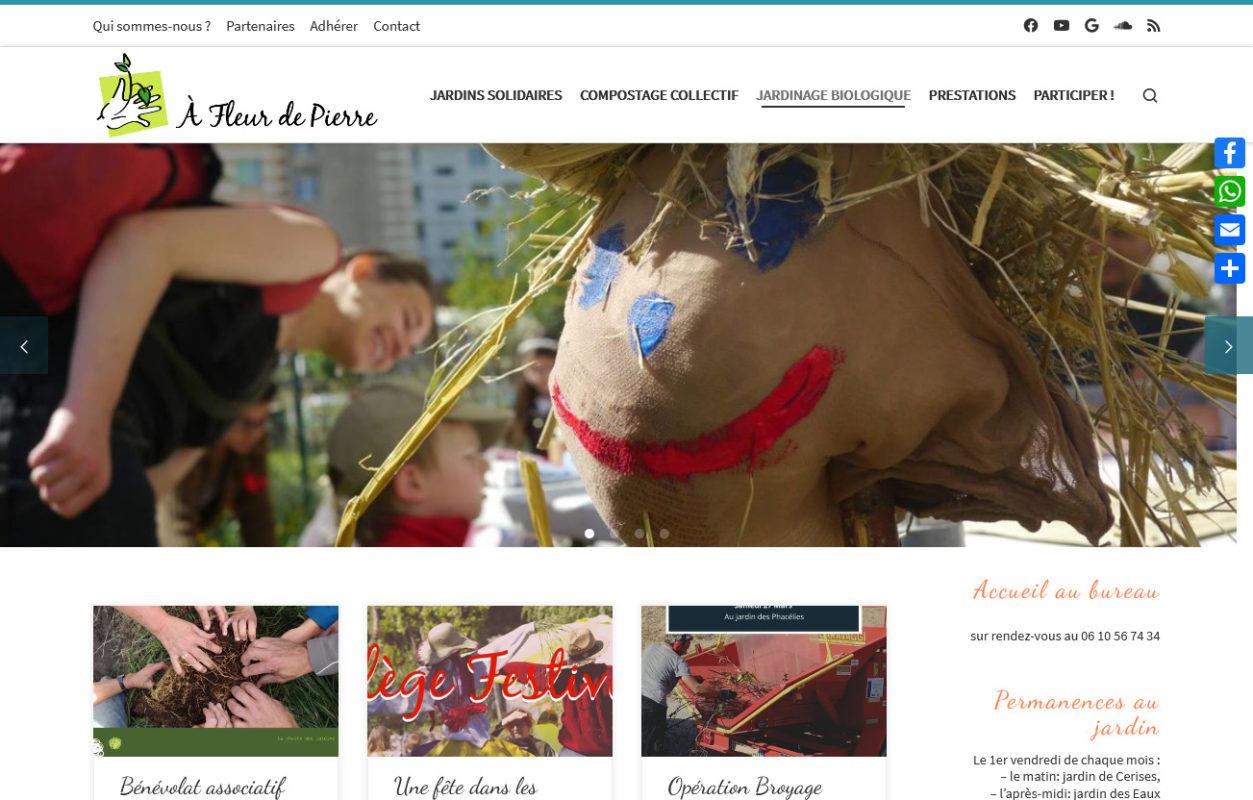 Jardins solidaires écologiques - afleurdepierre.com