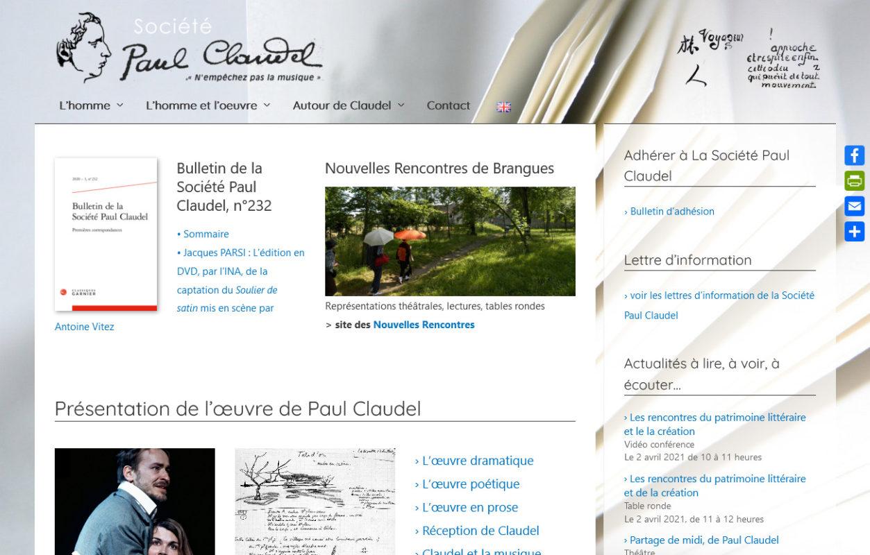 Société Paul Claudel - societe.paul-claudel.net