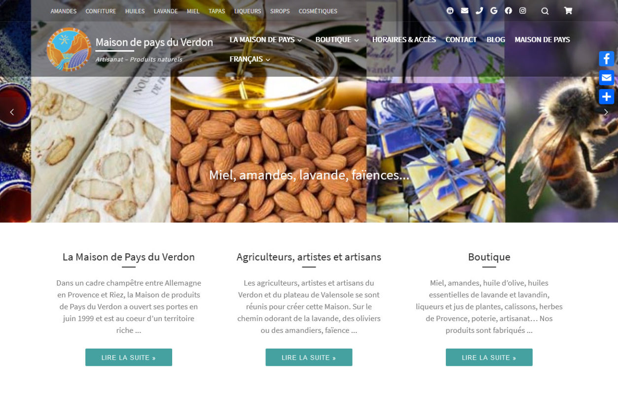 Maison de Pays - produits-artisans-verdon.fr